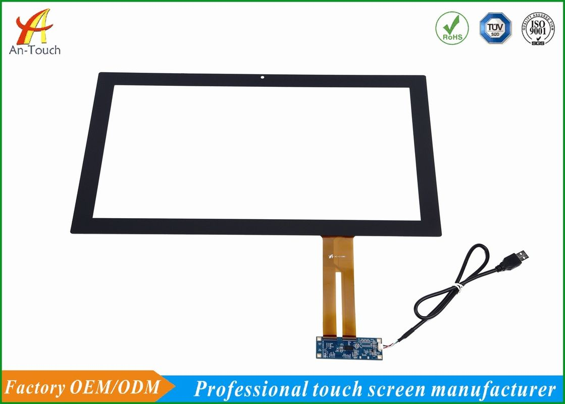 Plug And Play Capacitive Touch Panel Screen 18.5 Inch , G+G Structure
